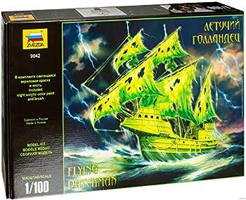 Zvezda Russian Model Ship Kit 14.5-inch Flying Dutchman Scale Model Kit Scale  1/100 Plastic Model Kit