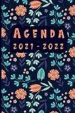 Agenda 2021 2022: agenda ANUAL 2021 2022 /semana vista a5 - español | flores | 16 meses de abril de 2021 a julio de 2022|...