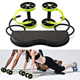 VOZIPA Revoflex Xtreme Multifunction Pull Rope Wheeled Health Abdominal Muscle Training/Total Body Workout
