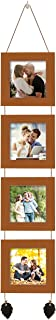 Art Street Photo Frame For Wall Set of 4 Brown Picture Frame For Home and Office Decoration with Free Hanging Accessories-...