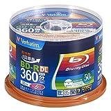 Verbatim バーベイタム 1回録画用 ブルーレイディスク BD-R 50GB 50枚 ホワイトプリンタブル 片面2層 1-6倍速 VBR260RP50SV1
