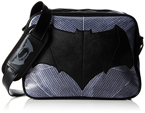 DC Comics Batman - Bolso bandolera, 39 cm, color negro