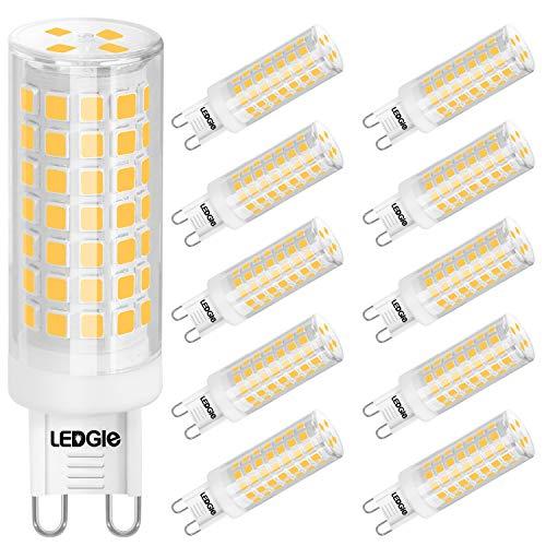 LEDGLE G9 Led Lampe 10W Mais Birne Kein Flimmern, Warmweiß 3000K 900LM Entspricht 100W Glühbirnen Halogenlampen,Nicht Dimmbar, Energiesparlampe Kleine Kerze Leuchtmittel, 10er