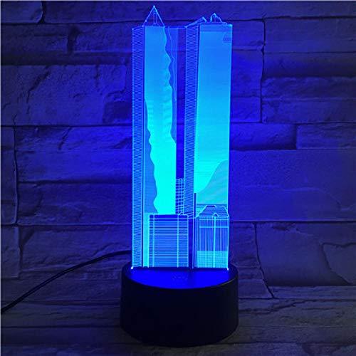 Luz nocturna 3D famoso edificio Empire State Building lámpara de mesa-1_World Trade Center