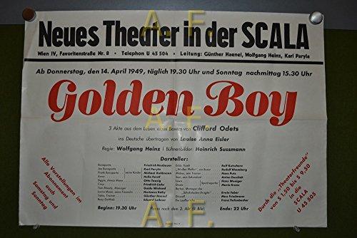 Neues Theater in der Scala. Golden Boy, 3 Akte aus dem leben eines Boxers von Clifford Odets. Hass. Ab Donnerstag, 14. April 1949. / Plakat.