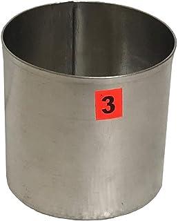 Krokio Aluminium Pillar Candle Mould Round Shape 3x3 Inch