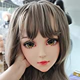 KnowU Cosplay Mask Anime Mask Head Shell BJD Doll Face for Halloween Masquerade Party Decoration Props