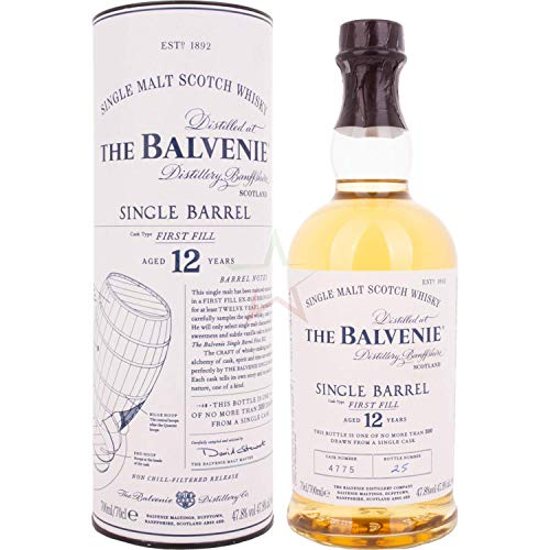 The Balvenie 12 Years Old Single Barrel First Fill 47,80% 0,70 Liter