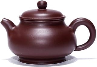 LiWen Zheng Xu Feng Pan Pot Famous Hand-ore Purple Clay teapot Tea (Color : Purple mud, Size : One Size)