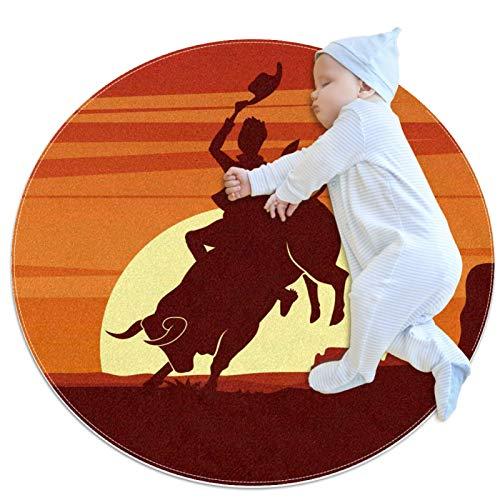 Haminaya Rodeo Clipart Tapis pour enfant Motif cercles