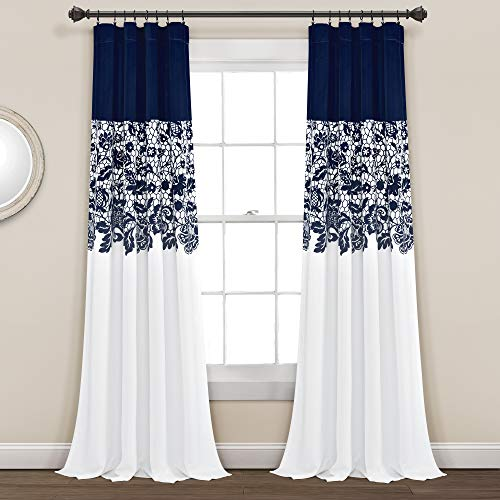 Garden Print Curtains Bedroom Darkening