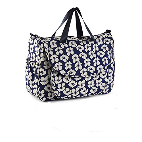 HLSUSAN Baby Changing Bag Backpack, Nappy Bag Backpack, Diaper Bag Backpack with Insulated Pockets Stroller Straps,Blue