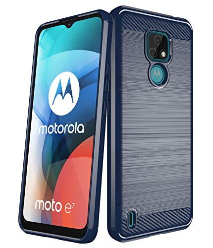 Aliruke Hülle für Moto E7 Hülle, Slim Stoßfest TPU Bumper Cover Flexible Schutzhülle Handyhülle Kompatibel mit Motorola Moto E7, Blau