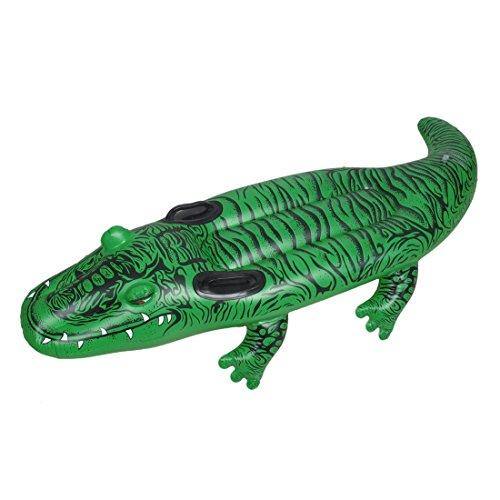 DealMux El Modelo de cocodrilo Verde de PVC Inflable Bote de remos Piscina para los niños