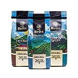 Café Britt® - Costa Rican Origins Coffee Bundle (12 oz.) (3-Pack) (Coffee From: Tarrazú, Tres Ríos & Poás) - Ground, Arabica Coffee, Kosher, Gluten Free, Gourmet & Medium Light & Dark Roast
