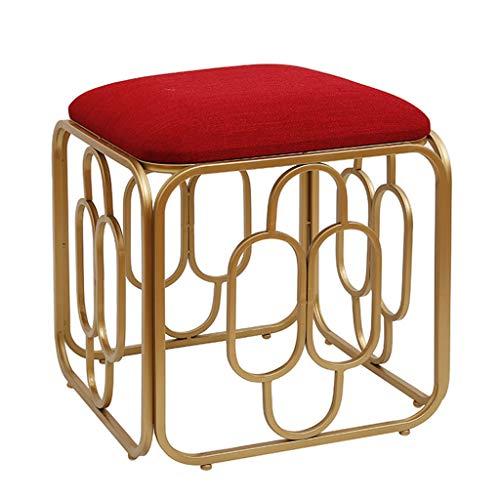 Voetensteun van ijzer/kruk voor het huis, vierkante zitbank voor zachte, comfortabele zitbank voor woonkamer, slaapkamer (meerdere kleuren optioneel)