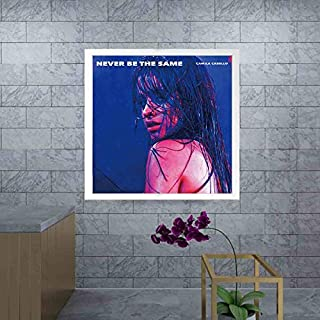MZCYL Canvas Painting Wall Art Picture Never Be The Same Camila Cabello Album Cover Poster Print Canvas Painting Sin Marco 50 * 50Cm