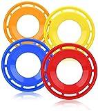 com-four® 4X Frisbee para niños y Adultos - Disco de Lanzamiento en Forma de Anillo - Disco de Disco Volador 27 cm - Disco Volador [la selección varía] (4 Piezas - Anillo de Lanzamiento)