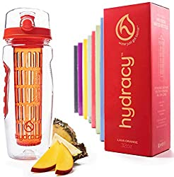 Lava Orange Hydracy Fruit Infuser Water Bottle
