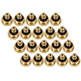 KUWAN 0.016' Orifice (0.4mm) Thread UNC 10/24 Brass Misting Nozzles Low Pressure Atomizing Misting Sprayer Water Hose Nozzle for Greenhouse, Landscaping, Outdoor Cooling Mister System (20PCS)