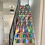 calcomanía decorativo para pared de escaleras, colección abstracta de decoración del hogar, diseño de cubos de colores para fiestas, para sala de estar, pasillo, habitación de los niños,...