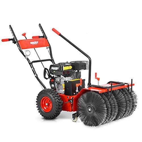 HECHT Benzin-Kehrmaschine 8616 SE Multifunktionsgerät Kehrbesen Kehrbürste + 230V Elektro-Start Funktion