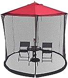 KDOAE Mosquito de Sombrilla de jardín Garden Parasol Net Courtyard Umbrella Net Cover Outdoor MOSQ-UITO Net MOSQ-UITO Net para Acampar en el Jardín al Aire Libre (Color : Black, Tamaño : One Size)