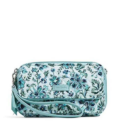 Vera Bradley Women's Signature Cotton RFID All in One Crossbody Wristlet , Cloud Vine, One Size