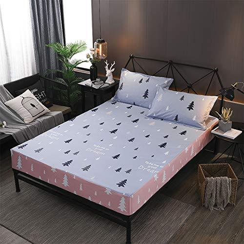 haiba Protector de colchón impermeable, ajustable, transpirable, a prueba de manchas, hipoalergénico y no ruidoso, fácil ajuste, tamaño king, M, 150 x 200 cm