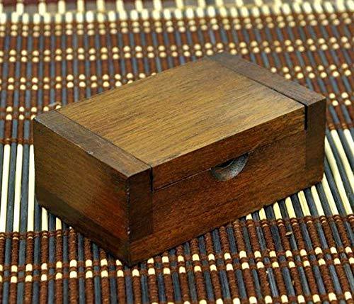 Frascos de vacío Palillos de cóctel Restaurante en casa madera maciza de teca palillo de dientes lado de la caja 9 * 5.5 * 3.5 cm