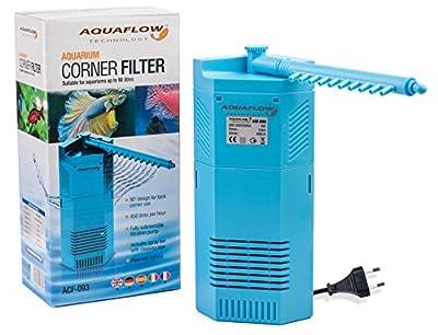 Aquaflow Technology® - ACF Pompe à eau et filtre d'angle pour aquarium – Adaptée pour les aquariums de poissons exotiques ou pour les bassins d'eau de mer