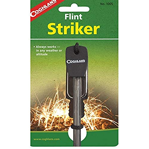 Coghlan's Waterproof Flint Striker Black ,3 7/8'