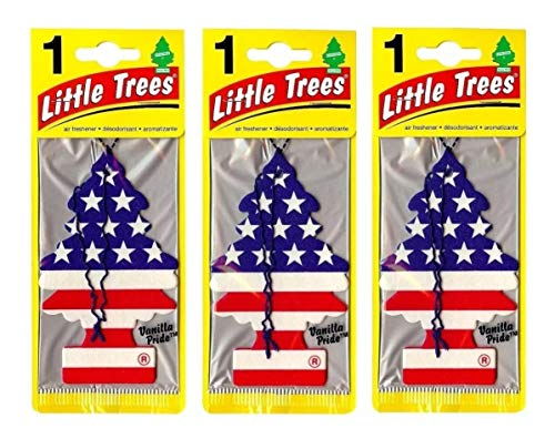 Odorizante e aromatizantes little trees kit com 3 uns