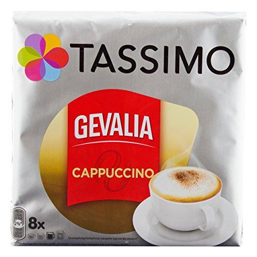 Tassimo Gevalia Cappuccino, Kaffee, Kaffeekapsel, Gemahlen, 8 T-Discs / Portionen