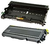 Toner TN2120 mit Trommel DR2100 kompatibel für Brother DCP-7030 DCP-7040 DCP-7045N HL-2140 HL-2150 HL-2150N HL-2170 HL-2170W MFC-7320 MFC-7340 MFC-7345DN MFC-7440N MFC-7840W - Schwarz, hohe Kapazität