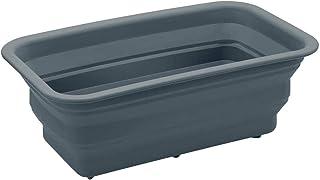 [ベルメゾン] 洗い桶 折りたたみ シリコン製 キッチン スリム 桶 グレー