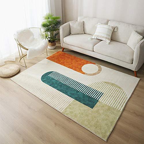 Imitación Cashmere Home Sala de Estar Alfombra Moderna, Super Soft Soft Pilot Living Room Alfombra, Blanco-3_80x120cm