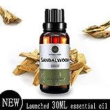 Sandelholz Ätherisches Öl (30ML), 100% Reines Natürliches Aromatherapie Sandelholzöl für Diffusor
