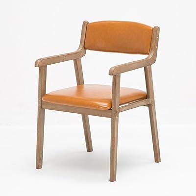 Simple Modern Minimalist Retro Meal Wooden Dining Chair Apoyabrazos Casual Adultos Computadoras escritorios y sillas (