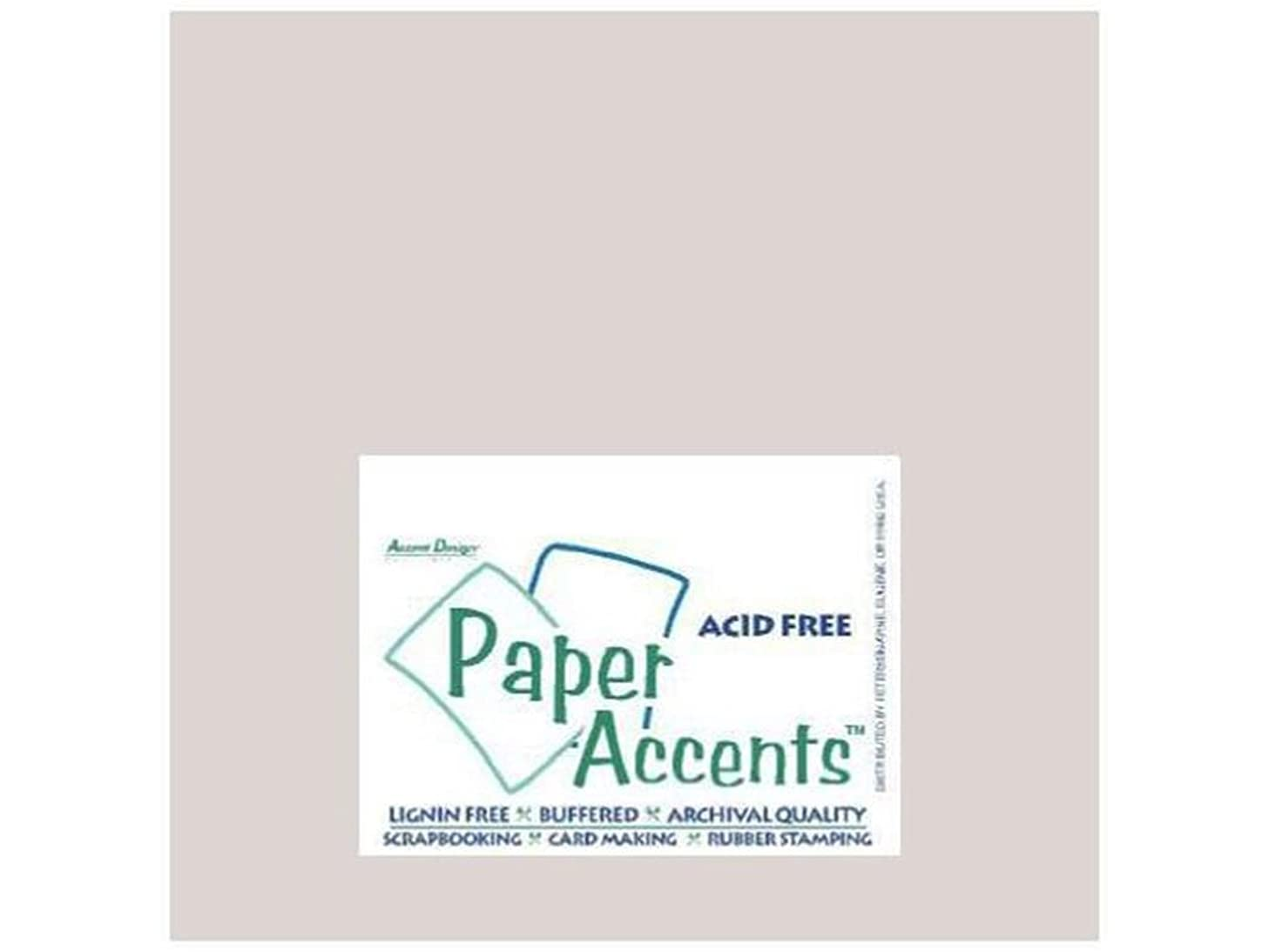 Accent Design Paper Accents ADPaperPearlized12x12Silver Paper Pearlized 12x12 80# Silver