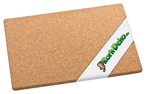 Saunamatte aus Kork (Bodenmatte für Sauna-Bereich) 45x30 cm | Rutschhemmende & feuchtigkeitsresistente Matte aus 100% Naturkork. Korkplatte aus Presskork, ideal für Wellness, Sauna, Duschmatte