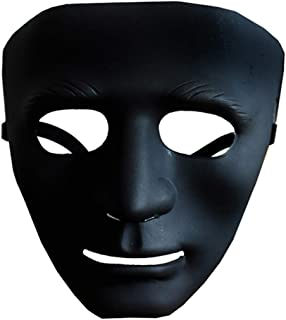 JYTT Halloween Mask Plastic V for Vendetta Chainsaw Benno Clown Shantou Elastic Band Adjustable Creepy Scary Props Cosplay for Masquerade Parties Bar Music Festival-l