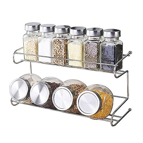 Ramoni Juego de 9 tarros de especias, tarros de cristal, tarros de especias, tarros de especias de cocina, capacidad de llenado, tapa hermética, varios usos.