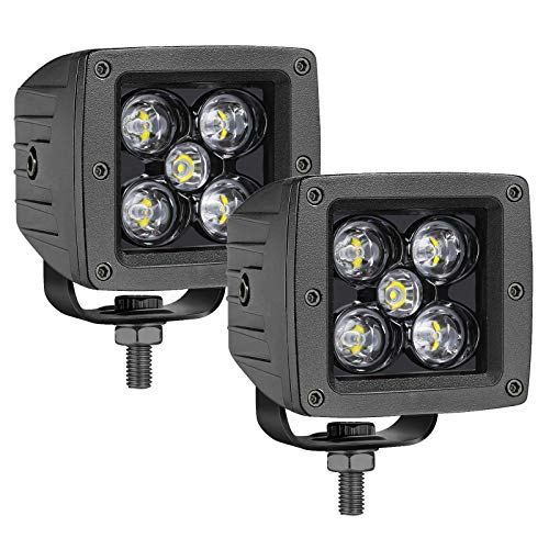 OFFROADTOWN LED Cubes, 2PCS 3 Inch 100W LED Pods Square Driving Light Spot Beam LED Light Bars LED Work Light Fog Lights for Trucks ATV UTV SUV Car Boat