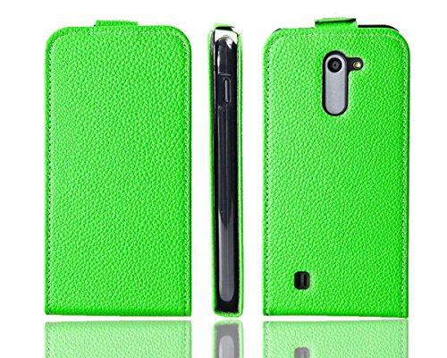 caseroxx Flip Cover für Archos 50C Neon, Tasche (Flip Cover in grün)