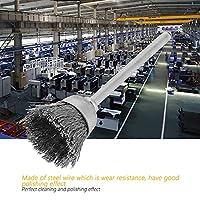 ワイヤー研磨ホイール、マルチシェイプスチールワイヤーブラシ15PCSグラインダーロータリーツール用マルチサイズスチール((3*15mm, Bowl type)