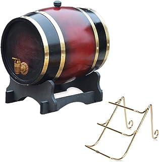 Casiers à vin planteur de tonneau en Bois de Dispositif de vin, Baril de vieillissement de chêne 1.5L, Distributeur de vin...