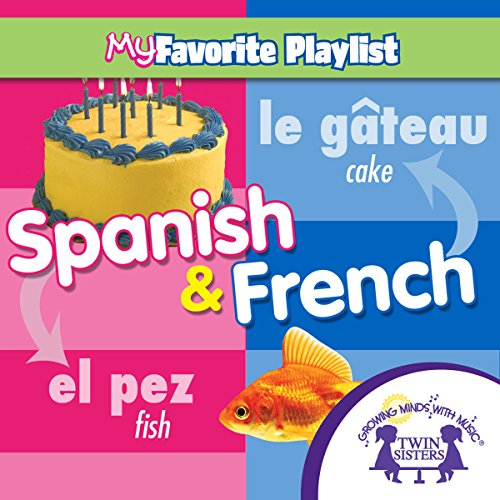 Spanish and French audiobook cover art