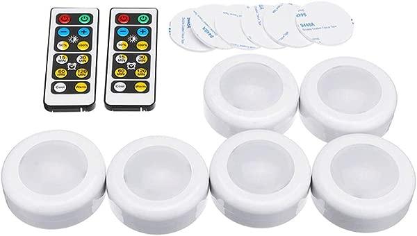 在机柜灯下 6 个 LED 橱柜衣柜灯与 2 个遥控器电池电源可调光定时