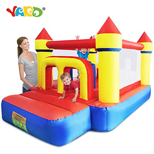 YARD Bounce House Inflatable Jumping Castle with Obstacle Course Tunnel Big Slide Bouncer Party Gift